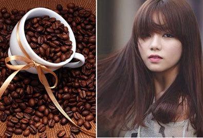Cà phê giúp tóc màu nâu giữ được độ bền mà khoog bị xuống màu nhanh