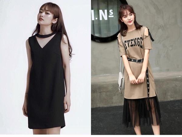 Váy suông cách điệu không chỉ mang lại vẻ tiểu thư, nữ tính mà còn pha thêm một chút cách điệu để trở nênhiện đại hơn