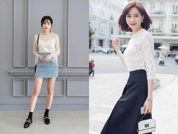 Nếu bạn biết cách chọn một chiếc áo ren cách điệu để diện cùng chân váy ngắn thì sẽ tạo ra một set đồ vừa xinh vừa chảnh lại cực điệu trong ngày 8/3