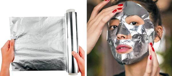 Đầu tư một chiếc máy xông hơi lạnh ở nhà không phù hợp điều kiện kinh tế của phần đông chị em. Bạn có thể tăng cường hiệu quả làm mát da khi đắp mặt nạ bằng cách đặt một miếng giấy bạc trong tủ lạnh rồi phủ lên trên lớp mặt nạ.