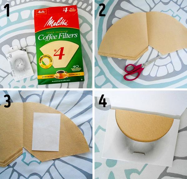 Khi hết giấy thấm dầu, bạn có thể dùng giấy lọc cà phê thay thế.