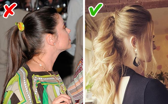 Một chiếc dây chun màu mè, lỗi mốt có thể phá hỏng kiểu tóc của bạn và khiến tổng thể trông kém tinh tế, chỉn chu.