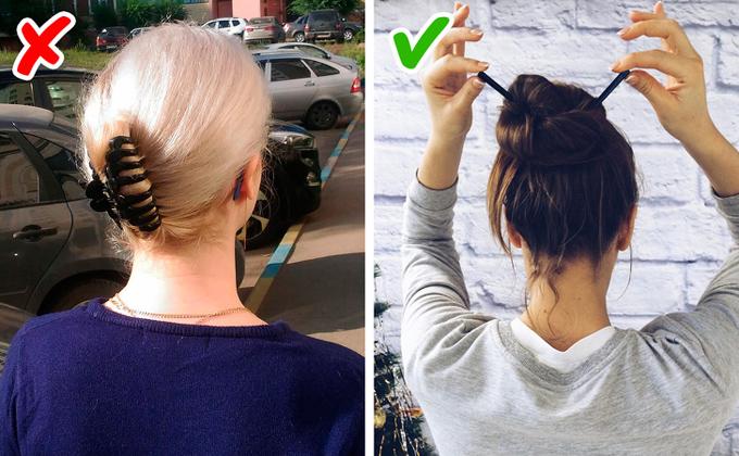 Kẹp tóc khá hữu ích với nhưng cô nàng tóc dài tuy nhiên bạn không nên ra đường hay đến công ty với kiểu tóc này. Nó sẽ khiến bạn trông xuề xòa, kém sang.