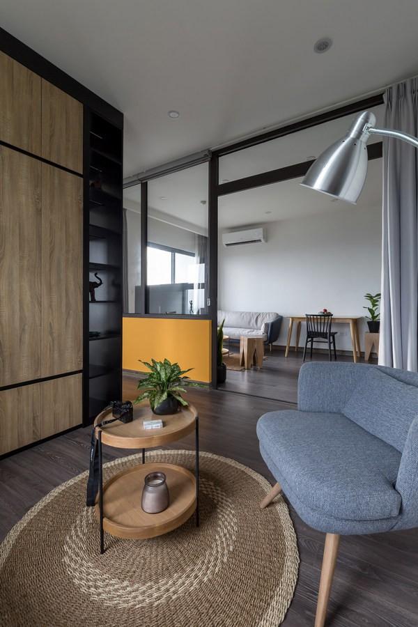 Không gian nhìn từ phần phía trong nhà ra ngoài phòng khách.