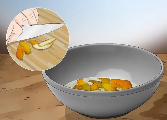 Thái nhỏ vỏ chanh cho vào hỗn hợp nước cốt chanh - Ảnh minh họa: Internet
