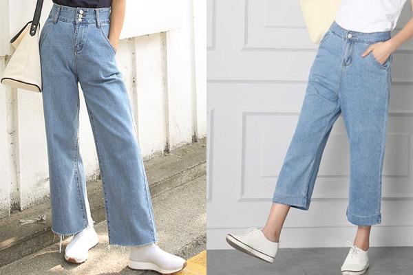 Quần jeans ống rộng mang đến nét thanh lịch và trang nhã cho người diện