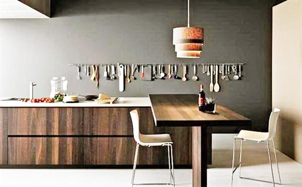 Bí quyết làm sáng bừng sắc gỗ nơi góc bếp - Ảnh 2