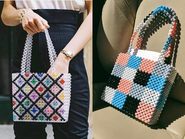 Vì được trang trí bằng những chuỗi hạt tuyệt đẹp, túi đính cườm sẽ là một điểm nhấn cực kỳ thú vị, ấn tượng