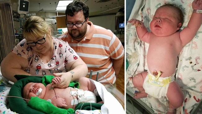 Bé trai chào đời nặng gần 7kg khiến bác sĩ tròn mắt - Ảnh 1