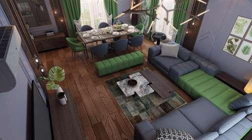 Lựa chọn đồ nội thất có sự tương quan về màu sắc, chất liệu.