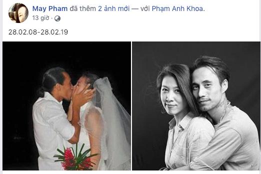 Phạm Anh Khoa và bà xã kỷ niệm 11 năm ngày cưới sau scandal
