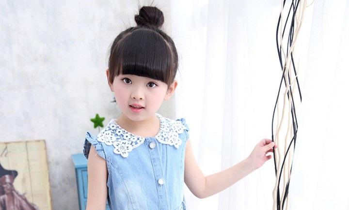 Kiểu tóc búi đẹp đơn giản dành cho bé gái