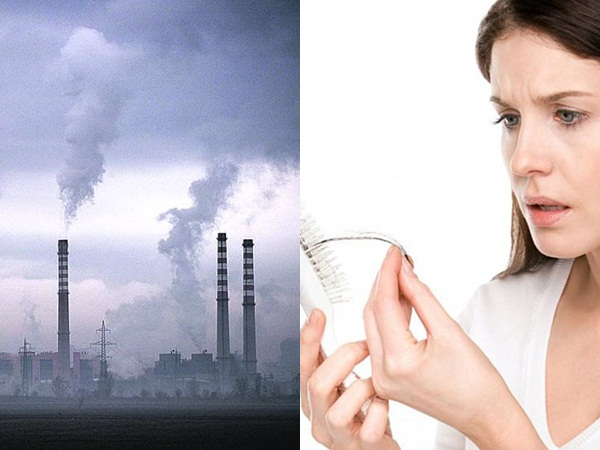 Các hợp chất axit có trong có trong khí thải công nghiệp là nguyên nhân khiến tóc rụng nhiều khi bị dính mưa