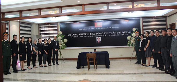 Lễ viếng Chủ tịch nước Trần Đại Quang tại các nước - Ảnh 17