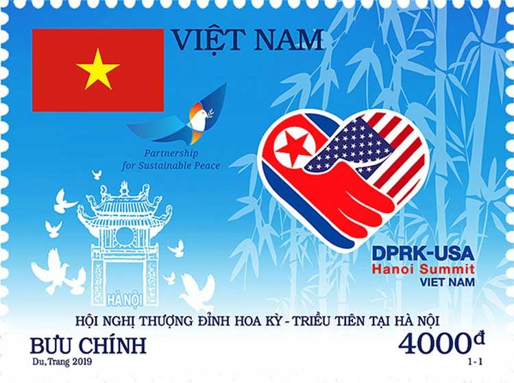 Việt Nam phát hành bộ tem chào mừng thượng đỉnh Mỹ - Triều - Ảnh 1