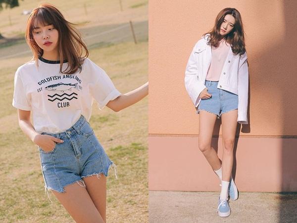 Jean short và áo phông chắc chắn sẽ là công thức cơ bản nhất trong mùa hè này