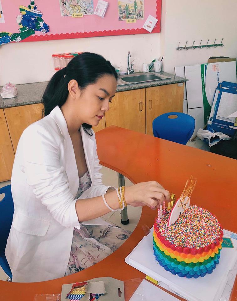 Phạm Quỳnh Anh - Quang Huy 'tái hợp' tổ chức sinh nhật cho con gái - Ảnh 5