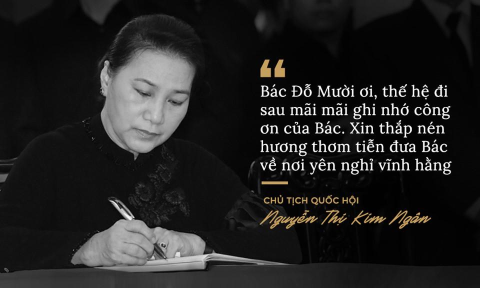 Lời từ biệt của lãnh đạo Đảng, Nhà nước với cố Tổng bí thư Đỗ Mười - Ảnh 3