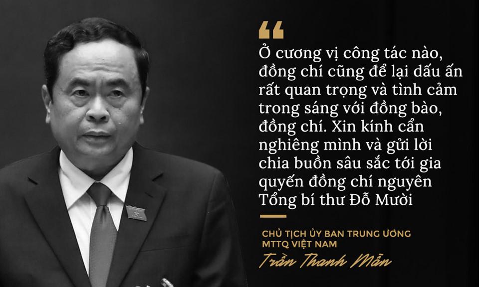 Lời từ biệt của lãnh đạo Đảng, Nhà nước với cố Tổng bí thư Đỗ Mười - Ảnh 6
