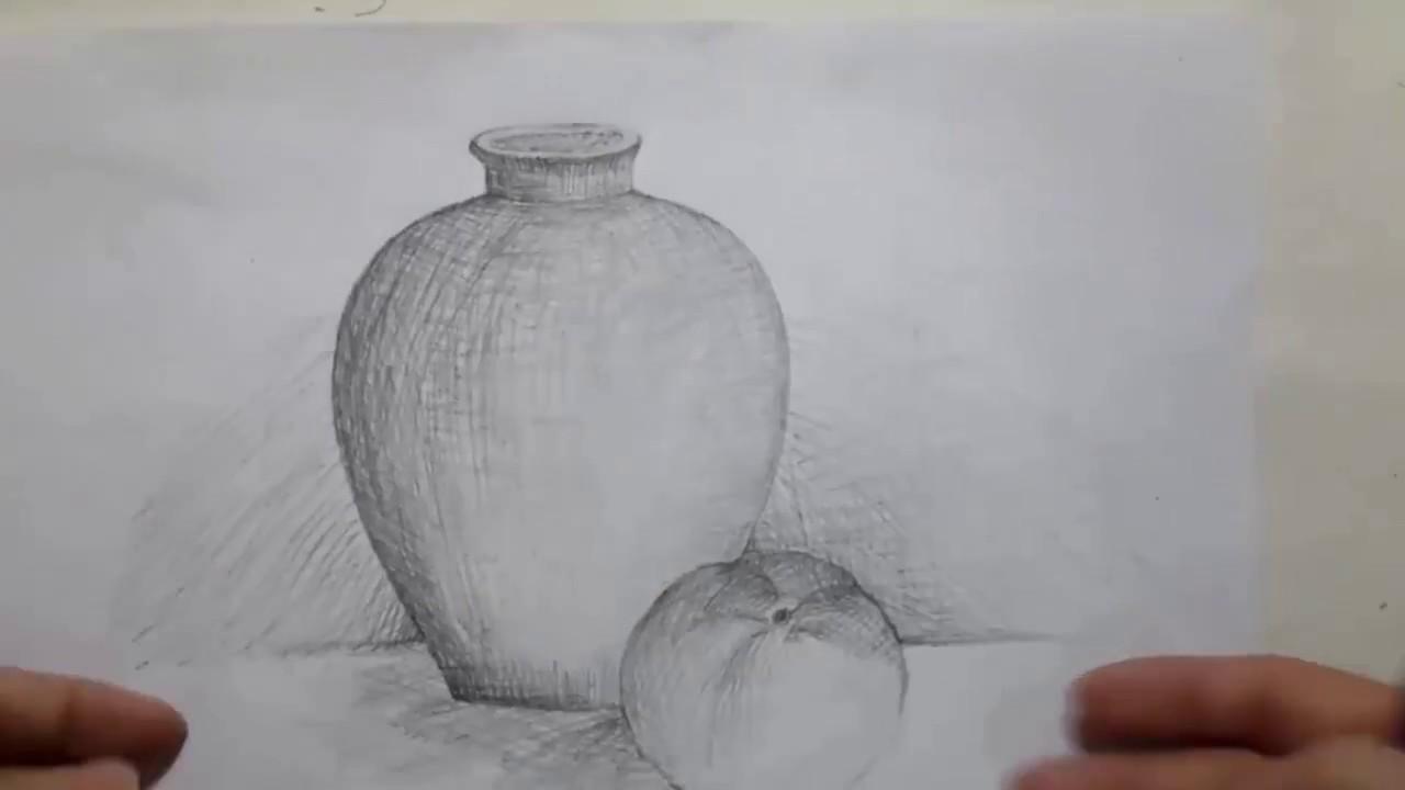 Vẽ phác bình hoa theo mẫu để có bức tranh đẹp