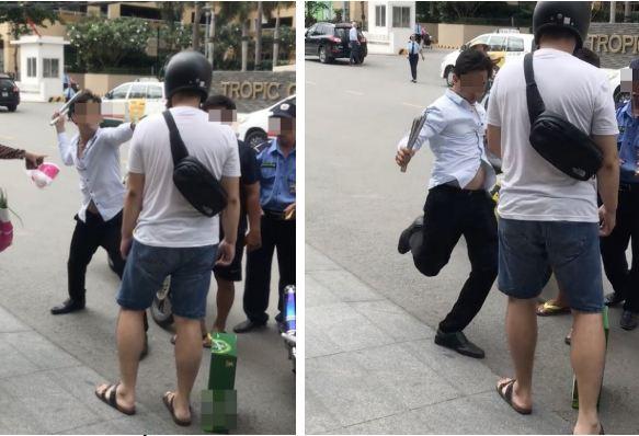 Sau va chạm, người đàn ông ngoại quốc bị nam tài xế đánh tới tấp trên đường  - Ảnh 1