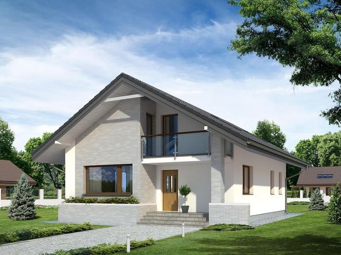 Gam màu nhẹ nhàng kết hợp sân vườn và đường nét vuông vức tạo giá trị thẩm mỹ cho căn nhà. Ảnh: Holcim.