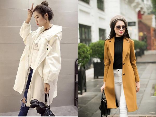 Những chiếc áo khoác dáng dài có màu sắc nhã nhặn, trung tính sẽ giúp phái đẹp nhìn sang trọng, trẻ trung và còn mảnh mai hơn rất nhiều