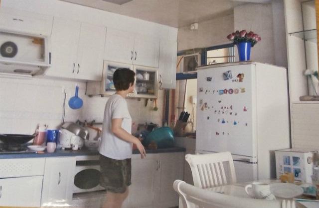Gian bếp nhà Lam Khiết Anh.