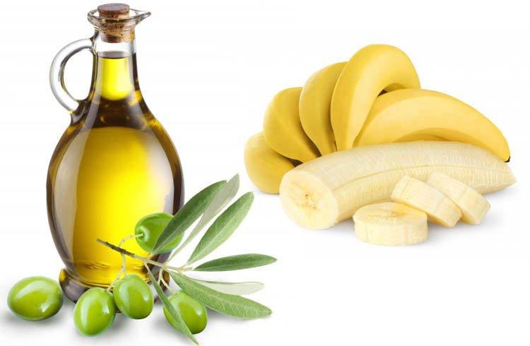 Dầu oliu và chuối là những nguyên liệu tự nhiên có kha năng dưỡng tóc suôn mềm và óng mướt hiệu quả