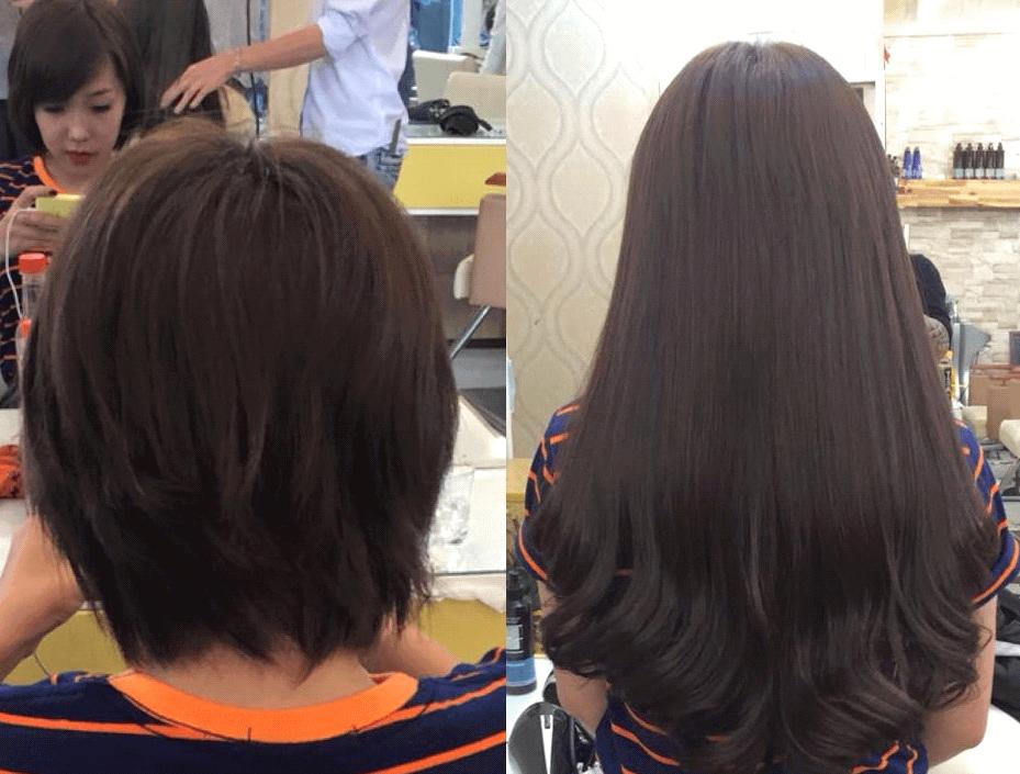 Muốn nối tóc thì độ dài tóc thật phải từ 10cm trở lên