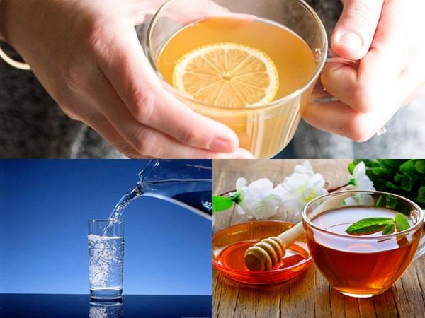Buổi sáng khi vừa thức dậy, Võ Hạ Trâm uống1 ly nước lọc, 1 ly nước mật ong ấm và 1 lý nước chanh
