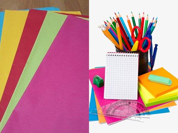 Giấy khổ to, bút màu, thước, kéo là những đồ dùng bạn nên chuẩn bị trước khi làm báo tường