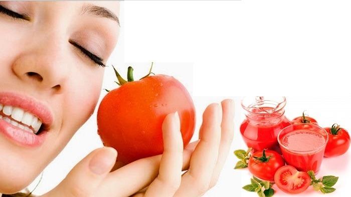 Cà chua tươi có đặc tính sát trùng nên được xem là loại quả hỗ trợ tiêu diệt mụn nhanh chóng