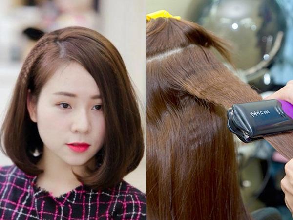 Bấm lớp tóc bên trong sẽ giúp mái tóc mỏng của bạn trông dày hơn rất nhiều