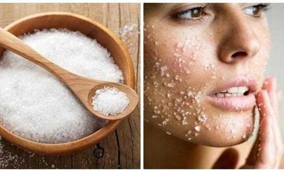 Kết hợp xông hơi và massge bằng muối trong 15 phút sẽ giúp đốt cháy mỡ thừa ở mặt vô cùng nhanh chóng