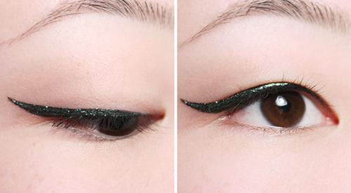 Việc kéo dài đường kẻ sẽ giúp đôi mắt của chị em bớt tròn và sắc sảo hơn