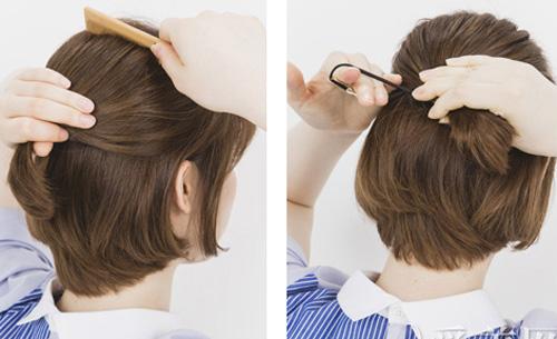 Khi cột cao tóc ngắn thường bị dư phần đuôi và không thể làm chúng gọn gàng nếu không sử dụng kẹp tăm