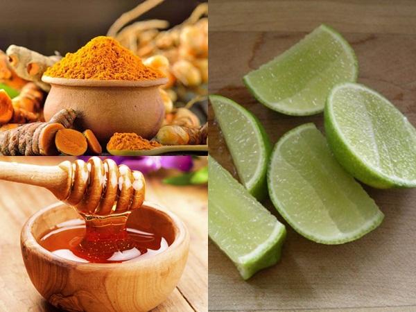 Hàm lượng Curcumin có trong tinh bột nghệ, tính acid trong chanh tươi cùng vitamin dưỡng chất của mật ong đều mang lại không ít công dụng cho qúa trình