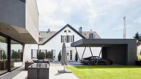 Những kiểu mái che nhà đẹp dành để đậu xe