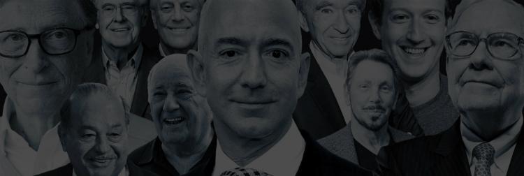Top 10 người giàu nhất thế giới theo Forbes, với các vị trí nhất, nhì, ba lần lượt là tỷ phú Jeff Bezos, tỷ phú Bill Gates và tỷ phú Warren Buffett.