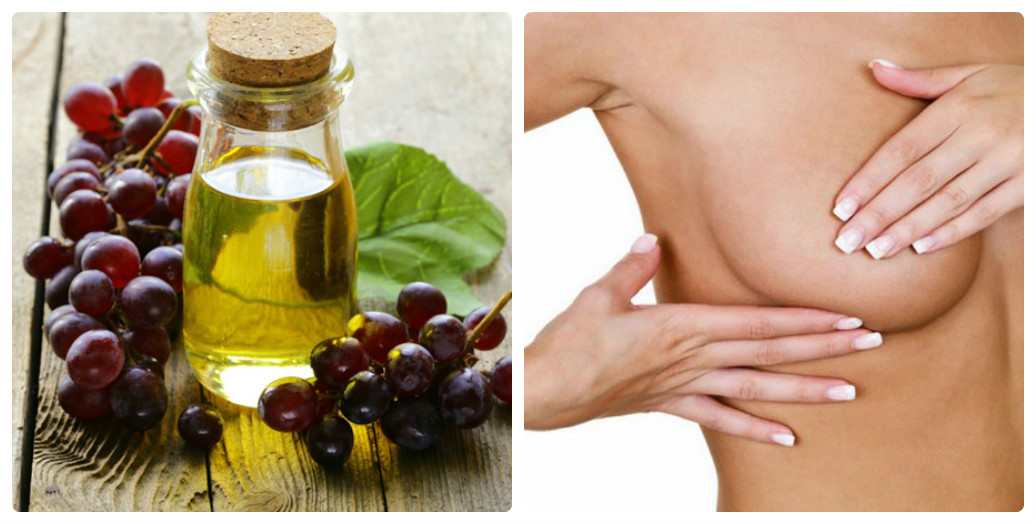 Tinh dầu hạt nho có tác dụng giũ cho bộ ngực săn chắc, thon gọn hơn