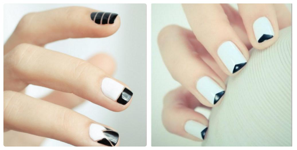 Móng tay màu đen, trắng là sự kết hợp không thể hoàn hảo hơn