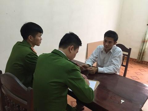 Đối tượng Nguyễn Văn Quang tại cơ quan điều tra.
