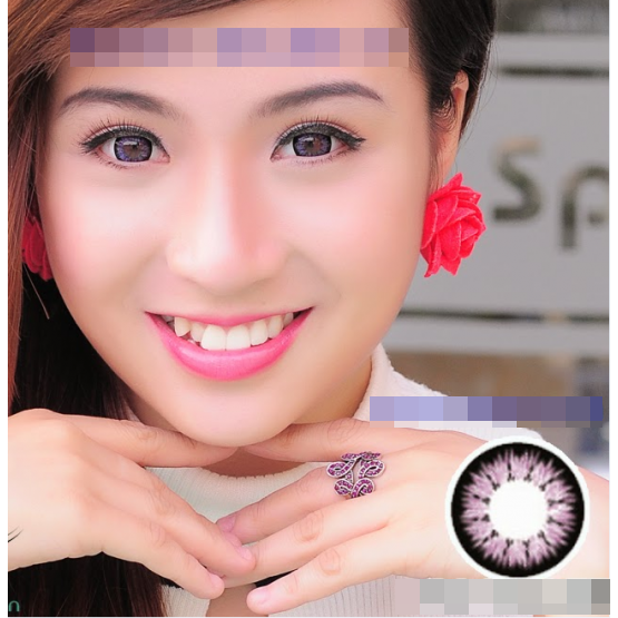Kính áp tròng màu ánh tím mang đến cho chị em đôi mắt thêm phần quyến rũ