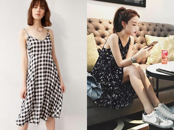 Váy hai dây dáng suông là món đồ vừa dễ mặc lại có khả năng giấu dáng rất đỉnh