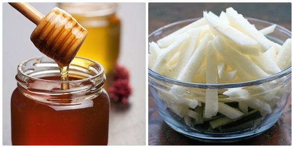 Các dưỡng chất quan trọng có củ đậu và mật ong sẽ giúp chị em xua tan nhanh các vết sạm đen trên da, nuôi dưỡng làn da căng mịn và hồng hào