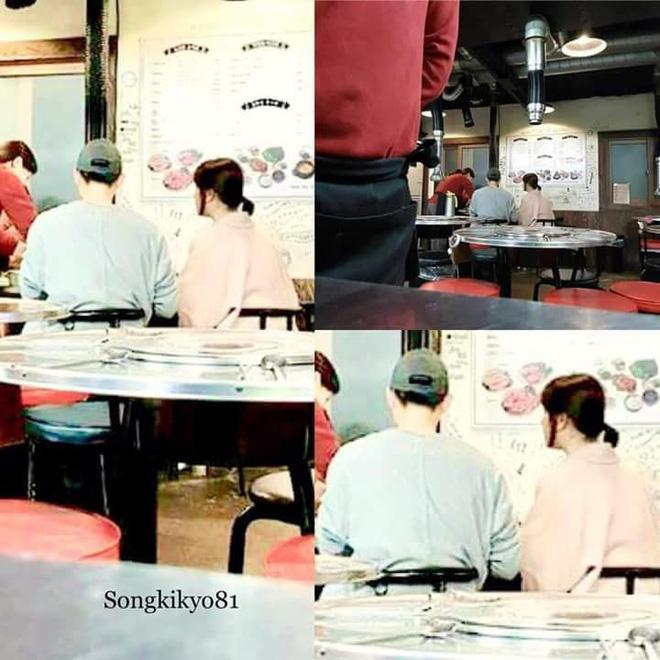 Hình ảnh vợ chồng Song Joong Ki - Song Hye Kyo cùng nhau đi ăn tối vô cùng ngọt ngào - Ảnh 1