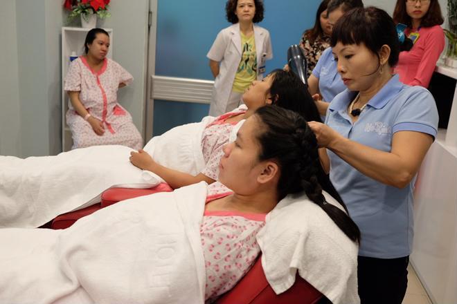 Bà bầu vượt cạn được gội đầu, massage miễn phí tại bệnh viện - Ảnh 3