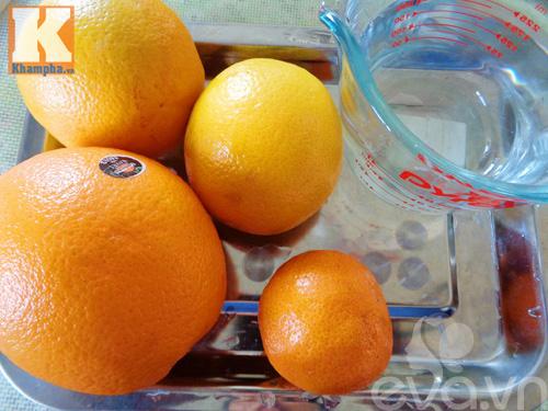 Nước ép cam mát lạnh, bổ dưỡng ngày nắng - Ảnh 1