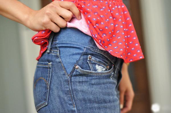 Nới quần jean bị chật bằng biện pháp thủ công